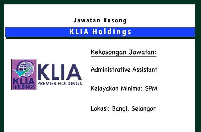 Jawatan Kosong Terkini Klia Holdings Bangi Selangor Jawatan Kosong Terkini