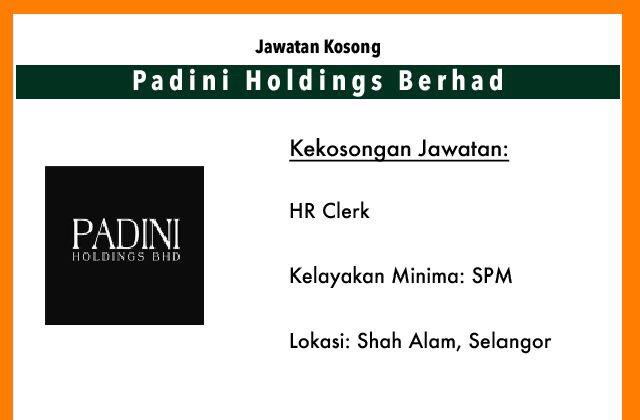 Jawatan Kosong Terkini Padini Holdings Berhad Shah Alam Selangor Jawatan Kosong Terkini