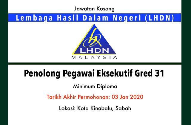 Jawatan Kosong Terkini Lembaga Hasil Dalam Negeri Lhdn Sabah Jawatan Kosong Terkini
