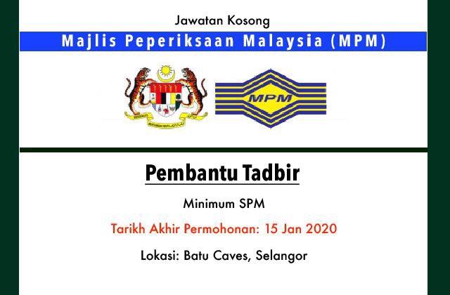 Jawatan Kosong Terkini Majlis Peperiksaan Malaysia Mpm Selangor Jawatan Kosong Terkini