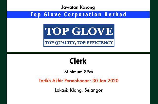 Jawatan Kosong Terkini Top Glove Corporation Berhad Klang Selangor Jawatan Kosong Terkini