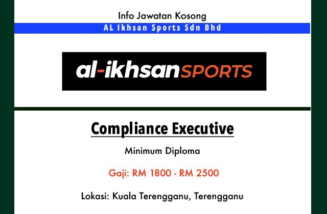 Info Jawatan Kosong Terkini Al Ikhsan Sports Sdn Bhd Terengganu Jawatan Kosong Terkini