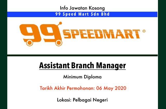 Info Jawatan Kosong Terkini 99 Speed Mart Sdn Bhd Jawatan Kosong Terkini