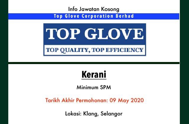Info Jawatan Kosong Terkini Top Glove Corporation Berhad Klang Selangor Jawatan Kosong Terkini