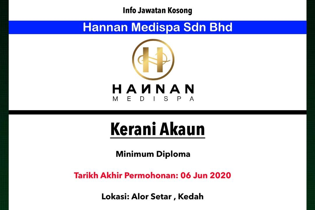 Info Jawatan Kosong Terkini Hannan Medispa Sdn Bhd Kedah Jawatan Kosong Terkini