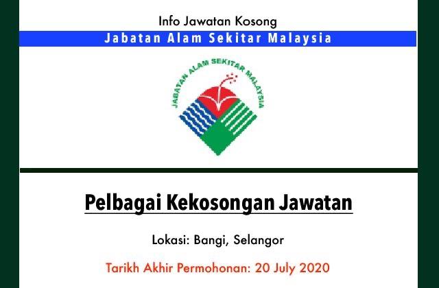 Info Jawatan Kerajaan Jabatan Alam Sekitar Malaysia Jawatan Kosong Terkini