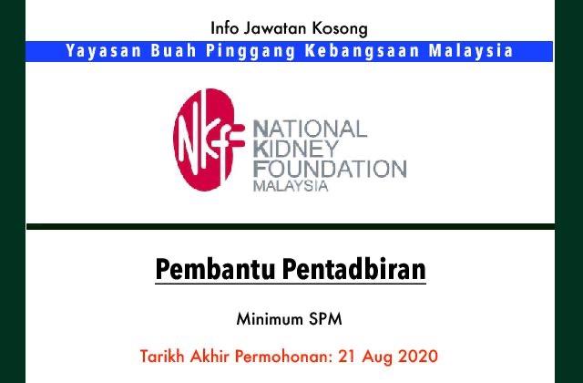 Info Jawatan Kosong Terkini Yayasan Buah Pinggang Kebangsaan Malaysia Jawatan Kosong Terkini