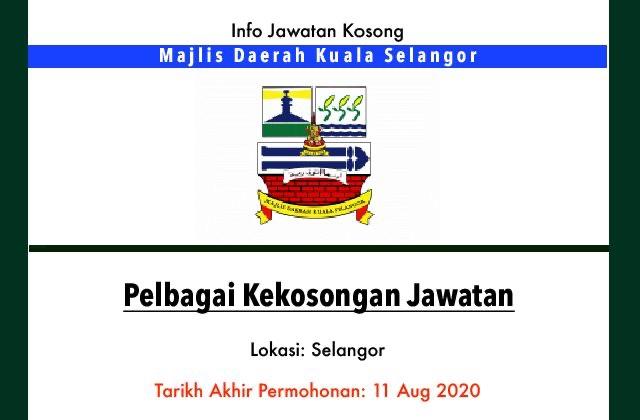 Info Jawatan Kosong Terkini Majlis Daerah Kuala Selangor Jawatan Kosong Terkini